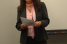 Bonnie conducting a seminar.
