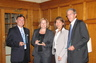 At the Florida Quebec Forum in June 2010 with Lu Chan Khuong, Batonniere du Barreau de Quebec.  Receiving a gift for our participation in the Forum.  With attorney colleagues from Florida.