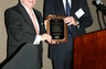 Atty Joe McGuire receiving award from Alan Pierce at MATA Bench/Bar Dinner