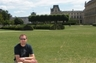 Jared outside the Louvre.