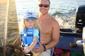 My daughter, Stella, and I tearing it up on the lake!