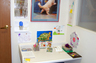 While it is always better not to bring children to a consult, sometimes this cannot be avoided. So we have a kid's corner for young artists that is visible from the conference room.