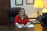 """My """"better half"""" and law partner, Susan P. Hall, at our Hickory office."""