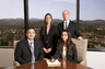 Los Angeles Divorce Attorney Christopher C. Melcher with partner Peter M. Walzer and associates Jennifer M. Musika and Leena S. Hingnikar