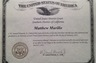 Certificate of Admission to the U.S. Federal District Court Bar - Southern District of California
