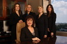 Divorce lawyers of the Houston office of Holmes, Diggs & Eames:  back row: Debra Herndon, Laura Lemus, Tesha Robasziewicz, and Stephanie Cohen.  Seated, front:  Cindy Diggs