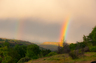 Double rainbow over Butte Creek Canyon. One of the beautiful sights in our hometown.