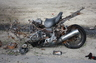 Client's motorcycle..............a miracle that he survived.