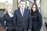 Landerholm Law - Portland Family Lawyers. From left to right Joanna Posey, Lewis Landerholm & Tabitha Brincat.