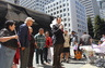 Speaking to the protest group outside of USCIS/ICE in San Francisco, CA on 8/15/14