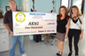 Levy, a personal injury attorney, handed a $2,000 check from a $12,500 settlement to the ARNI Foundation, an animal shelter in Daytona Beach. Levy said the money will help save the lives of other animals.