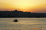 Sunset on the Golden Horn from the Galata Bridge, Istanbul, Turkey