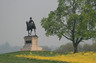 Spring at Gettysburg. This is a statute of Union General John Reynolds who was the highest ranking officer killed on either side during the Battle of Gettysburg.