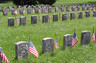 Graves of unknown Union soldiers from Ohio that were killed during the Civil War at the Battle of Antietam in September of 1862.