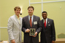 Alex receiving his 2009 State Bar of Georgia Young Lawyer's Division Leadership Academy Award of Recognition from Georgia Attorney General Thurbert Baker and  Leadership Academy co-chair Carl Varnedoe.