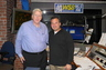 Mr. Head with Talk Show Host Adam Goldfein at WSB News-Talk Radio, June 2011. Mr. Head was on the Saturday afternoon program for two full hours.