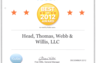 Kudzu.com - Award for Best of 2012 Award - Attorneys' Ratings