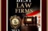 Best Law Firms 2013 Plaque.