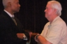 United States Congressman Hank Johnson, D-GA from the 4th Congressional District, was one of the many guests celebrating the safe return of Lt. Maurice G. Kenner, Jr. from Afghanistan in 2011. He is speaking with ex-cop Bill Taylor of Gainesville, GA.