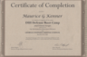 Mr. Kenner attended the very first DUI Boot Camp seminar put on by the Georgia Indigent Defense Council. His certificate of completion is shown here.