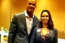 Attorney Elizabeth R. Blandon with Jason Taylor