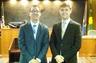 William Trudgeon (left). Scott Zochowski (right). Attorney admission ceremony for Mr. Trudgeon, Oakland County Circuit Court.