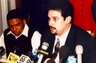 Speaking at a press conference after filing a civil rights class action in federal court in San Francisco.