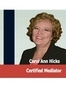 Arkansas Mediation Attorney Carrol Ann Hicks